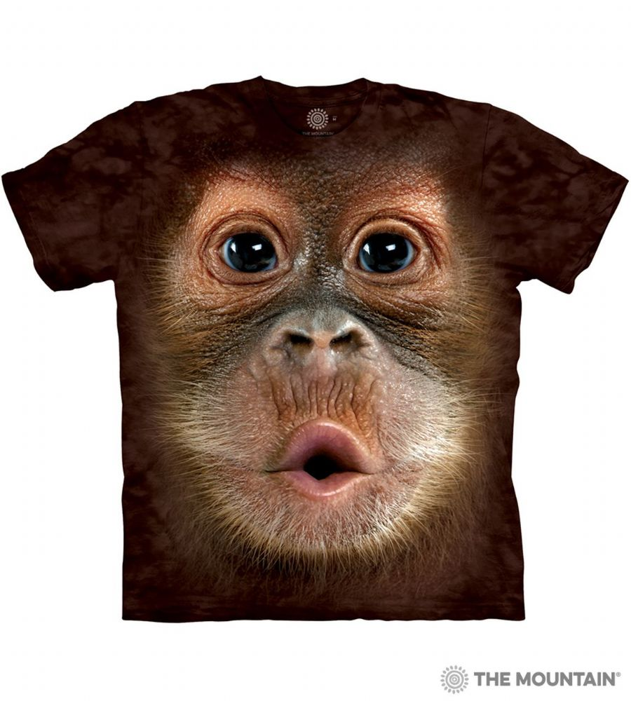 Big Face Baby Orangutan - Adult Orangutan T-shirt - The Mountain®